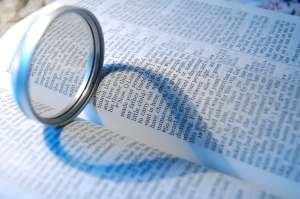 Bible with heart shadow