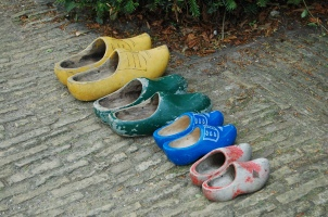 A family's shoes