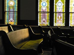 Pew and Stained Glass