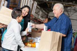 Generous giving at food bank