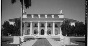 Mansion in black and white