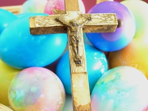 Easter Eggs and Cross